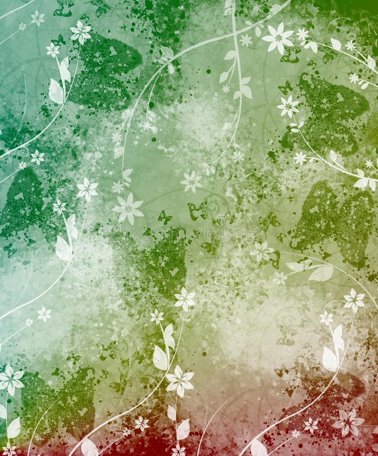 Download Background With Butterflies And Flowers Stock Photography - Image: 11432422