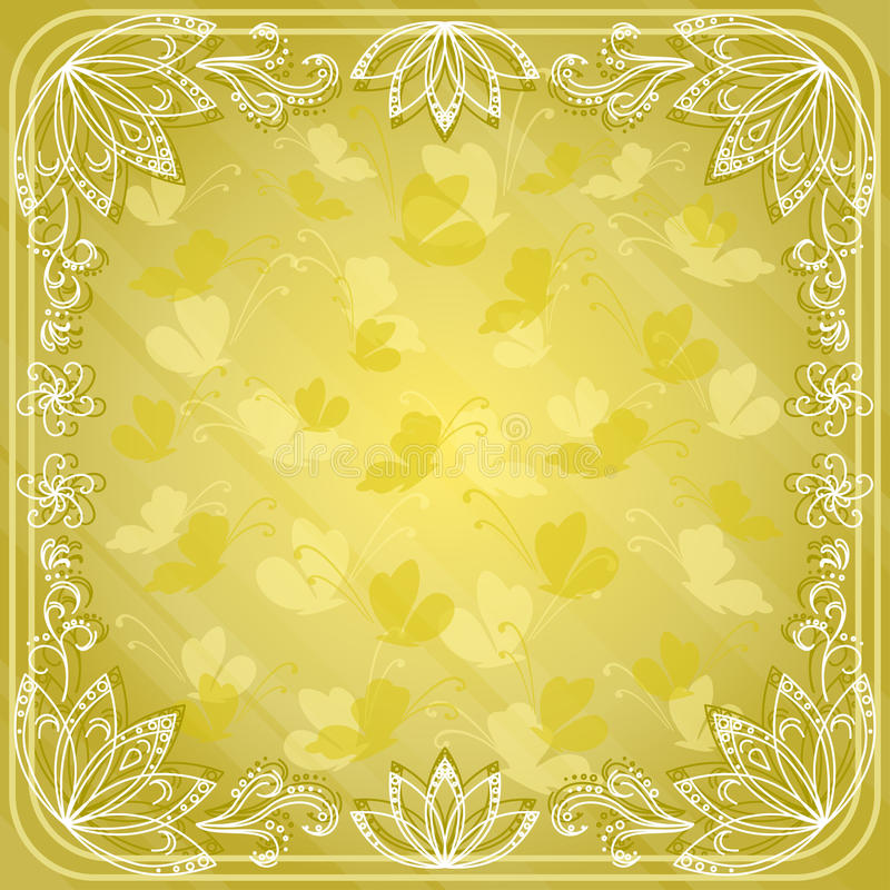 Download Background, Butterflies And Flowers Stock Vector - Image: 24351360