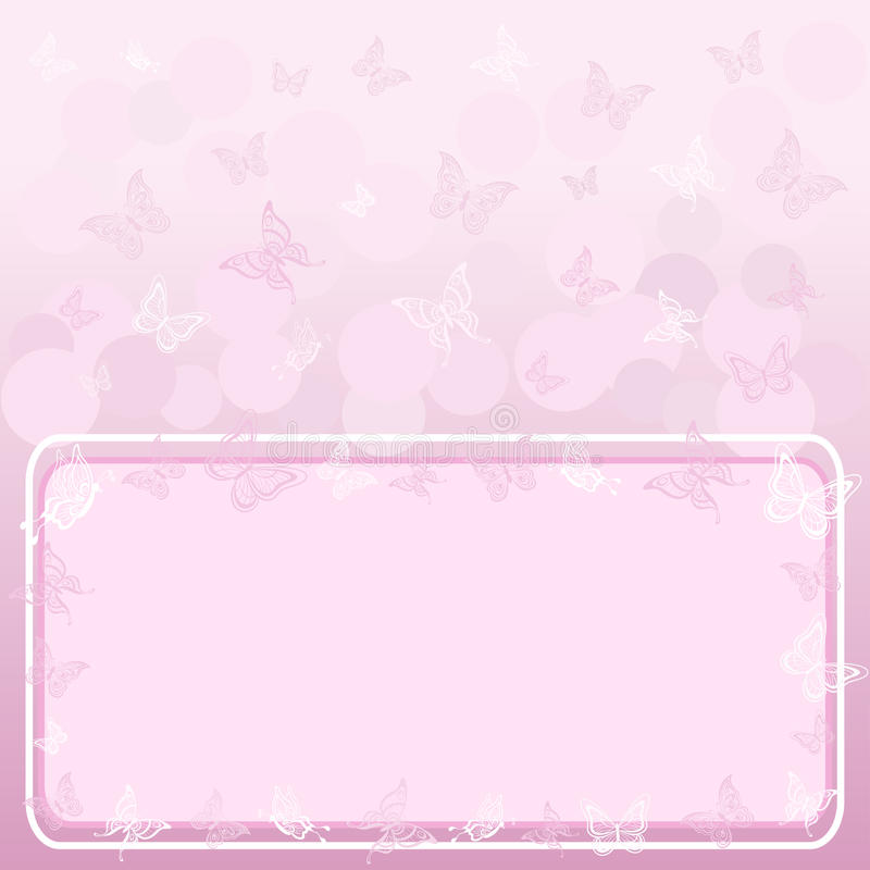 Download Background, Butterflies And Frame Stock Vector - Image: 25445682