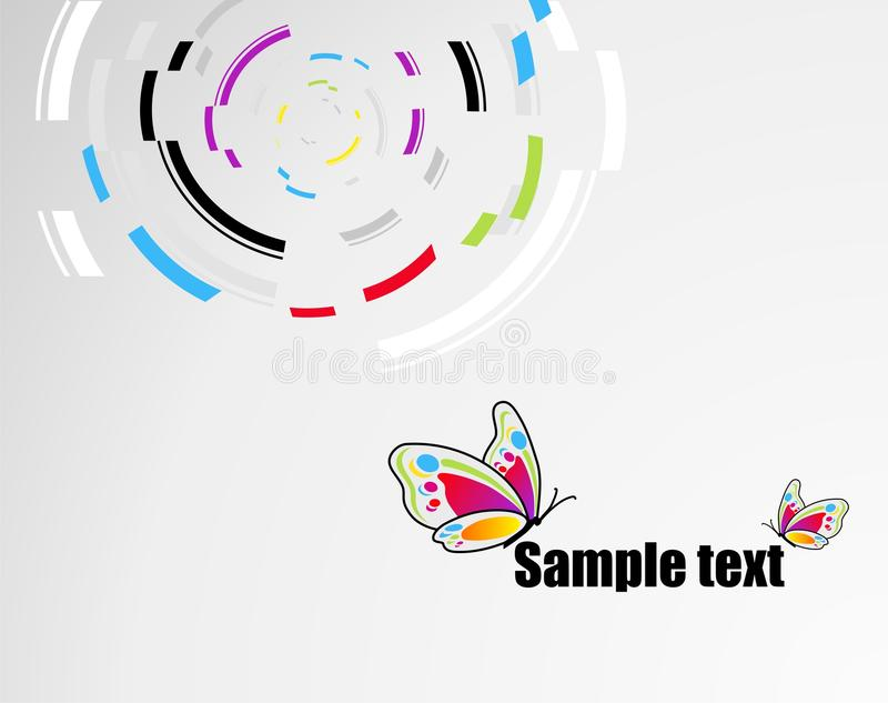 Background with butterfly. Abstract technical background with butterfly and place for your text royalty free illustration