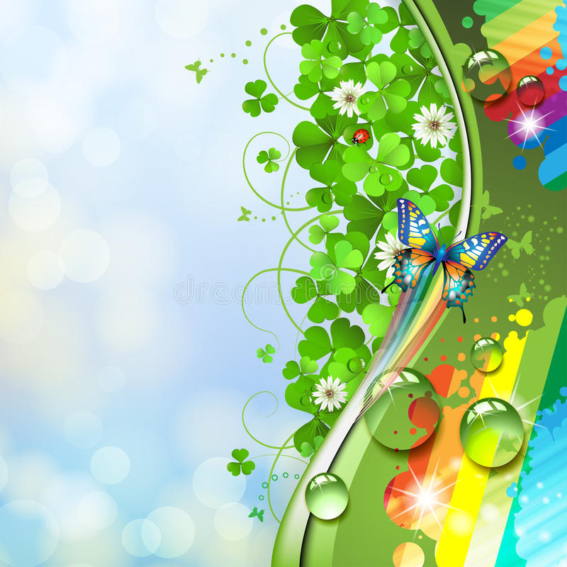 Background with butterfly royalty free illustration