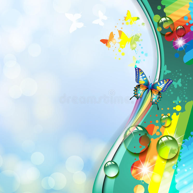 Background with butterfly stock illustration
