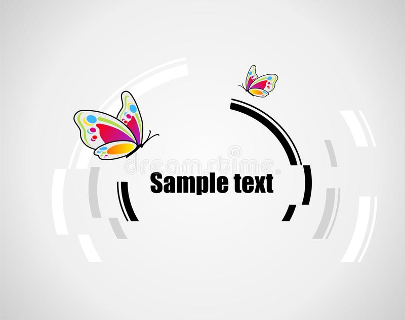 Background with butterfly. Abstract technical background with butterfly and place for your text vector illustration