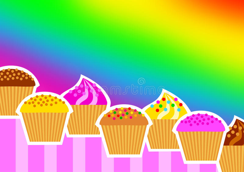 Background With Cakes Royalty Free Stock Images