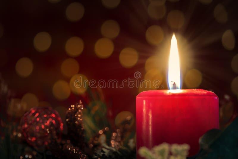 background candle christmas decoration gift golden xmas στοκ φωτογραφία