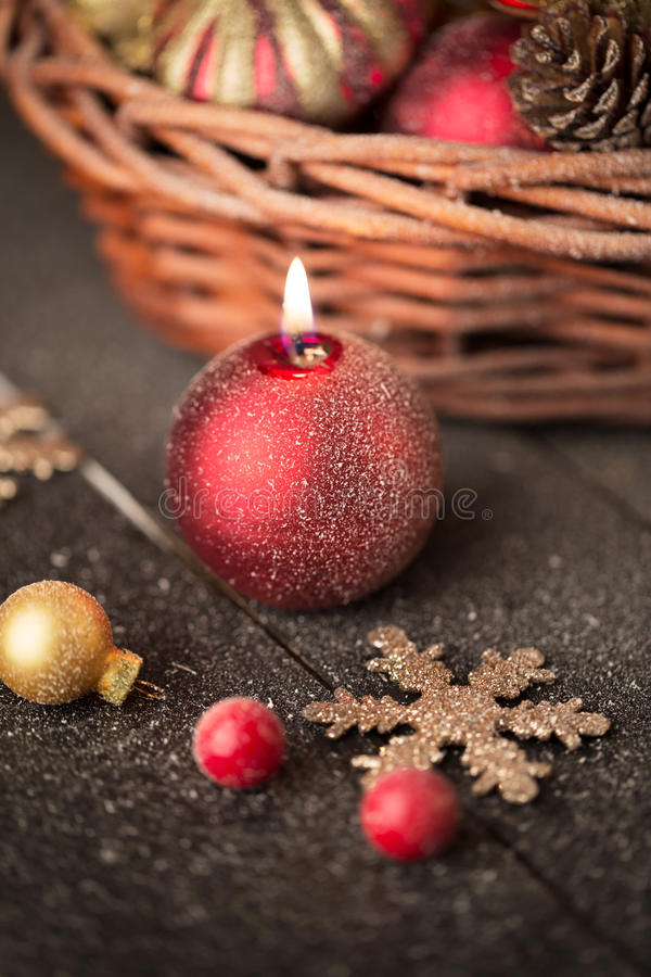 background candle christmas decoration gift golden xmas στοκ εικόνα