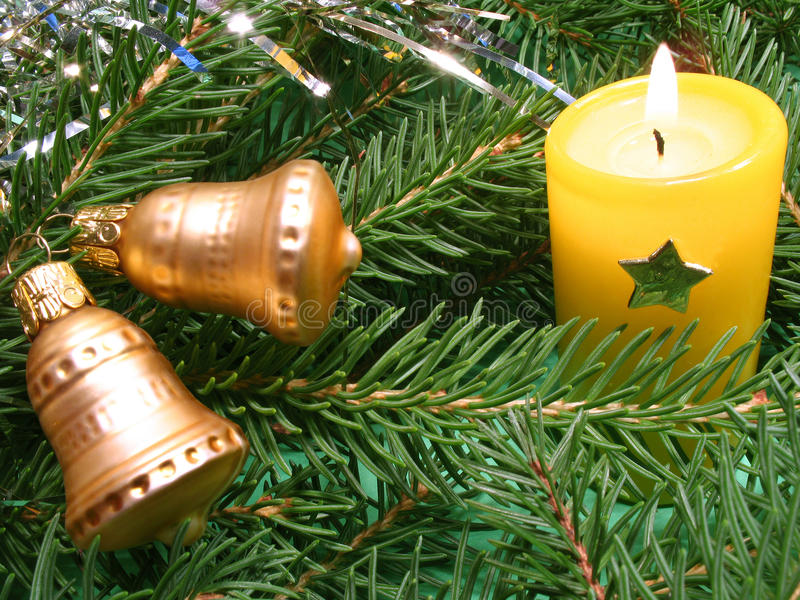 background candle christmas decoration gift golden xmas στοκ εικόνες