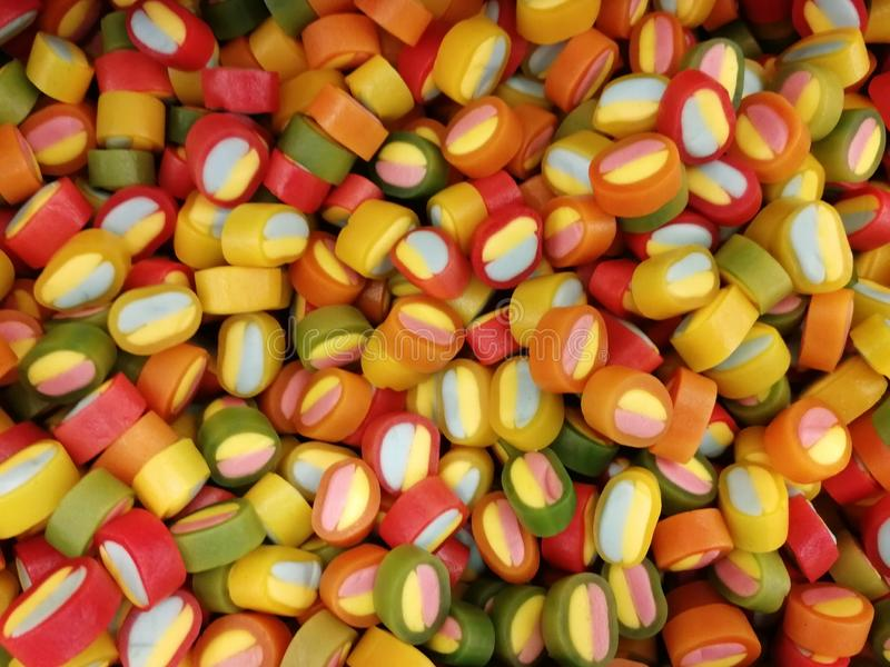 Background of candy corn. stock photo
