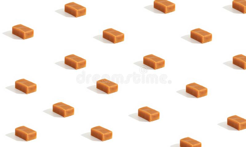 Background of caramel candies stock image