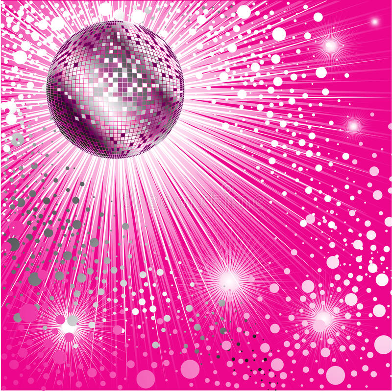 Free Background - CD Cover Design With Disco-ball Royalty Free Stock Image - 10814136