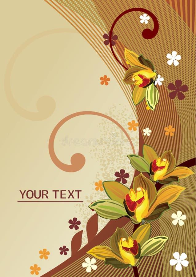 Background.cdr floral abstrato fotografia de stock