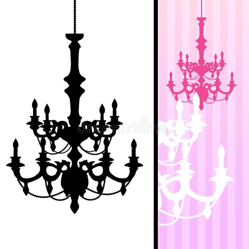 background chandelier striped иллюстрация вектора