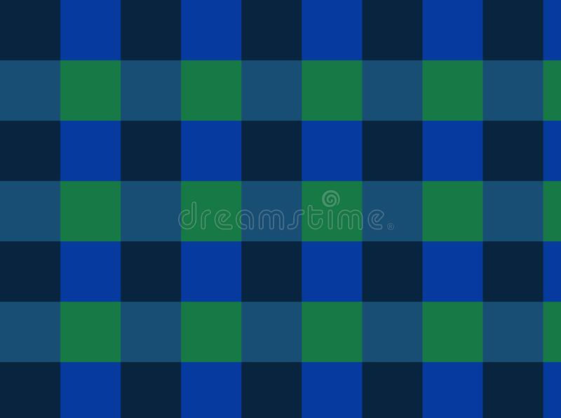 Background checkers of green, dark, blue colors!. Unique, beautiful, lovely, fine, fair background! Photo checkers of green, dark, blue colors royalty free illustration