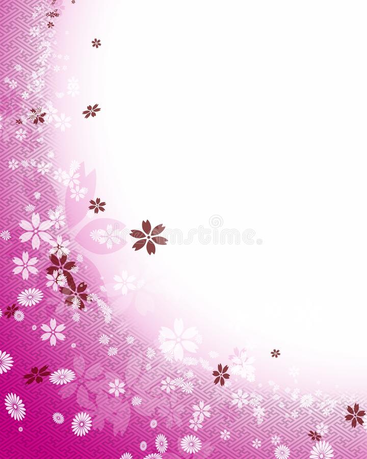 Background of cherry blossoms royalty free illustration