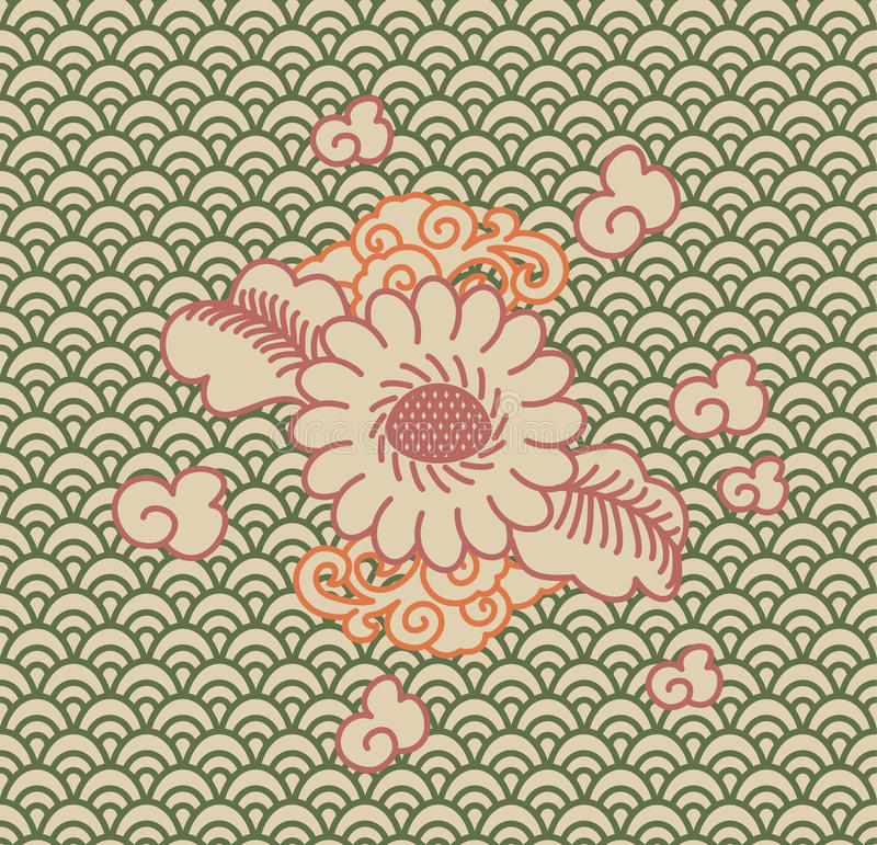 Download Background China ornament stock vector. Image of background - 34800552