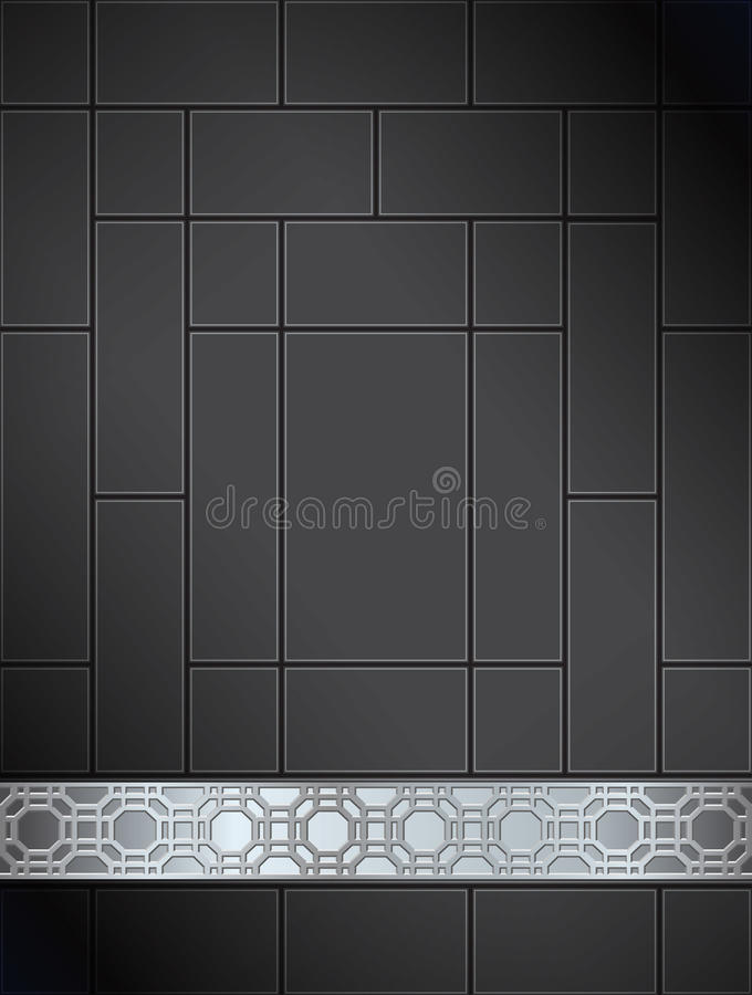 Download Background Chinese Lattice Pattern Black Silver Stock Photography - Image: 24126942