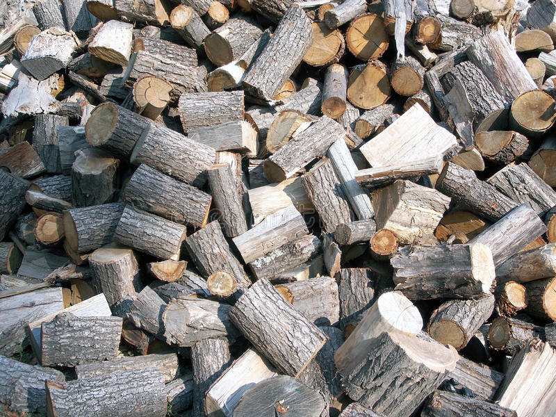 Background of chopped firewood royalty free stock photos