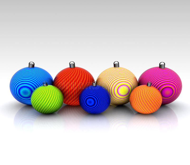 Download Background With Christmas Ball Decorated Stock Illustration - Image: 27439996
