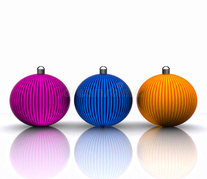 Download Background With Christmas Ball Decorated Stock Illustration - Image: 27440229