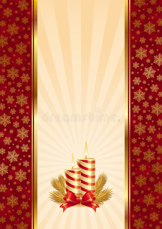 Background with Christmas candles stock illustration