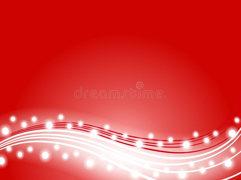 background christmas lights red swoosh