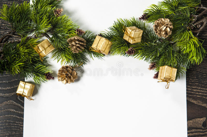 Download Background For Christmas And New Year Greeting Card Stock Illustration - Image: 42176364