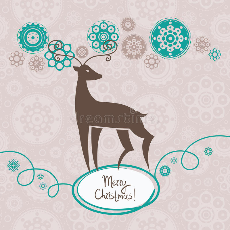 Download Background With Christmas Reindeer Stock Vector - Illustration: 27553670