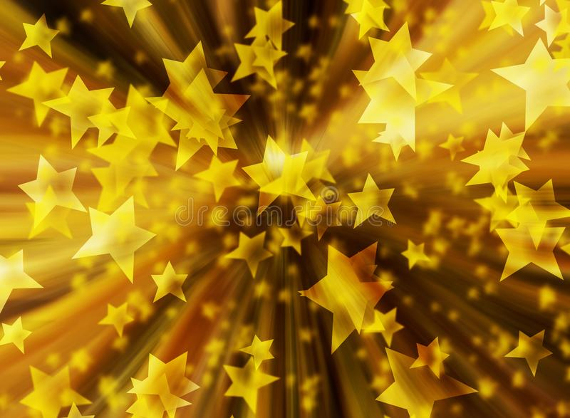 Background christmas stars gold zoom blur illustration new year royalty free illustration