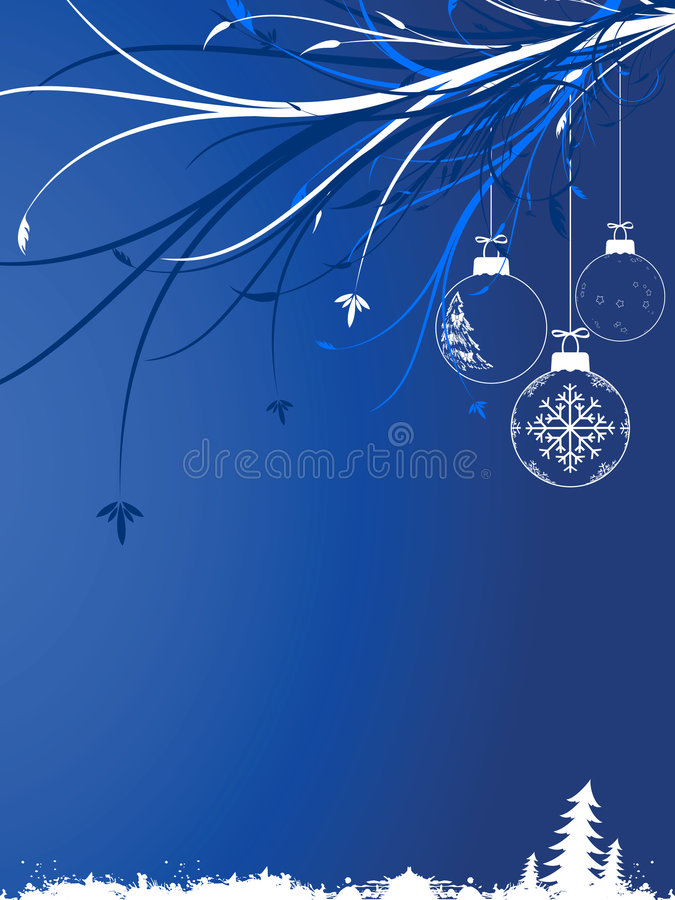 Background with Christmas toys vector illustration
