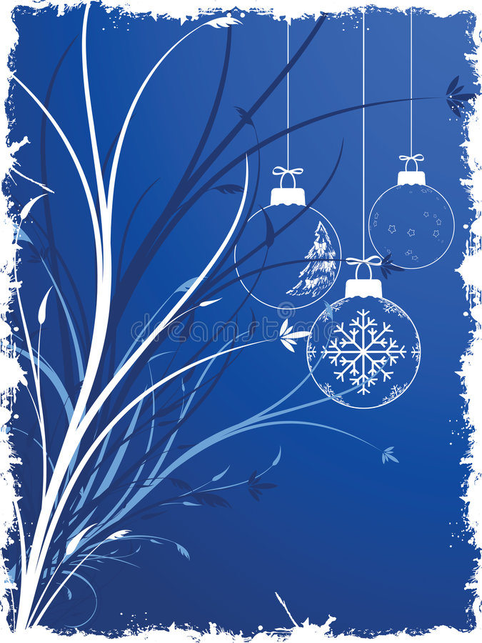 Background with Christmas toys royalty free illustration