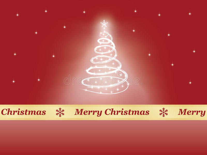 Background with Christmas tree vector illustration