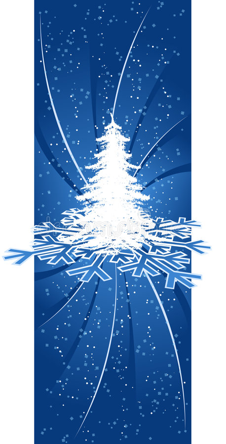 Background with Christmas tree royalty free illustration