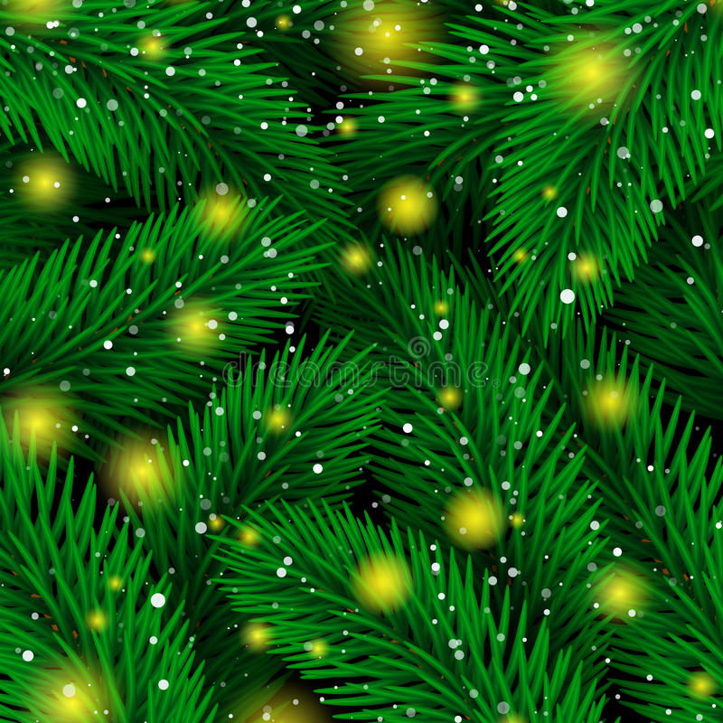 Background of Christmas tree branches. Magic Luxury Fir tree royalty free illustration