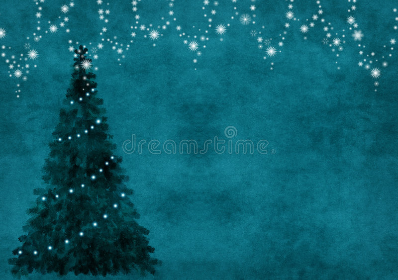 Background with chrisymas tree stock illustration