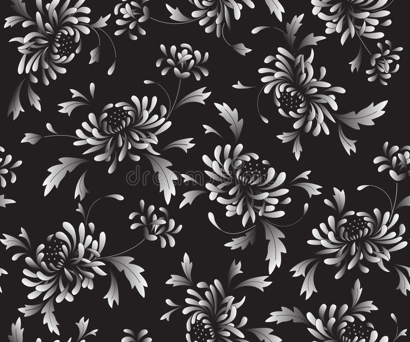 Background  With  Chrysanthemums Stock Photos