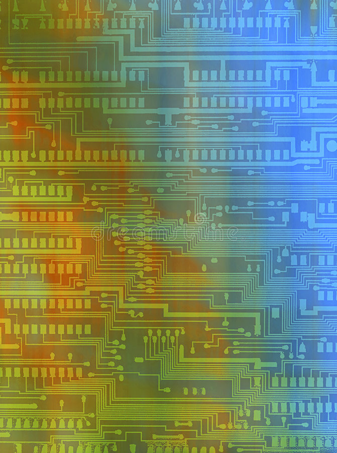 Background with circuitry patterns stock photography