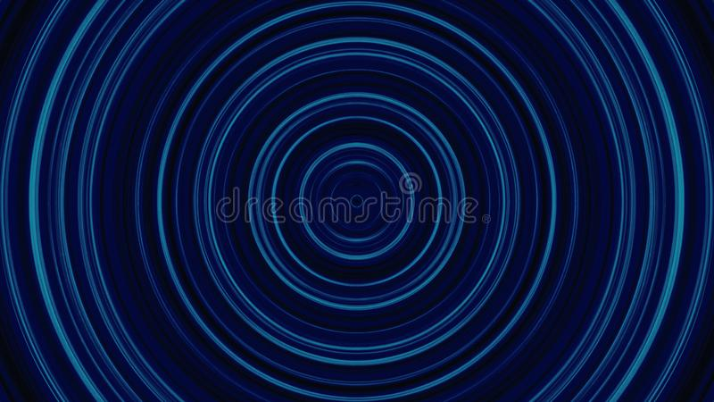 Background of circular particles, in warm yellow tones. Abstract Animated Glowing Multi Color Circles Stripes And Lines royalty free illustration