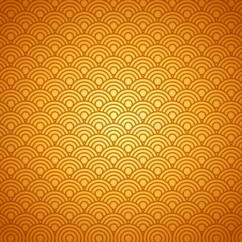Background with circular shapes. In gold color. colorful design. illustration vector illustration