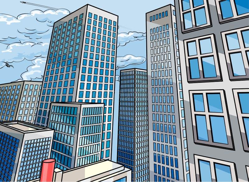 Background City Buildings Scene stock illustration