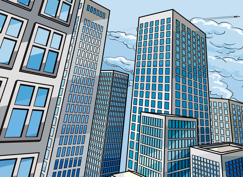 Background City Buildings stock vector. Illustration of ...