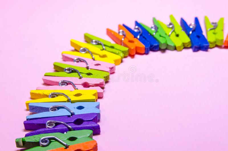 Background of clothespins royalty free stock photo