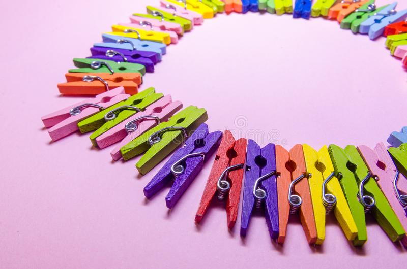 Background of clothespins royalty free stock image