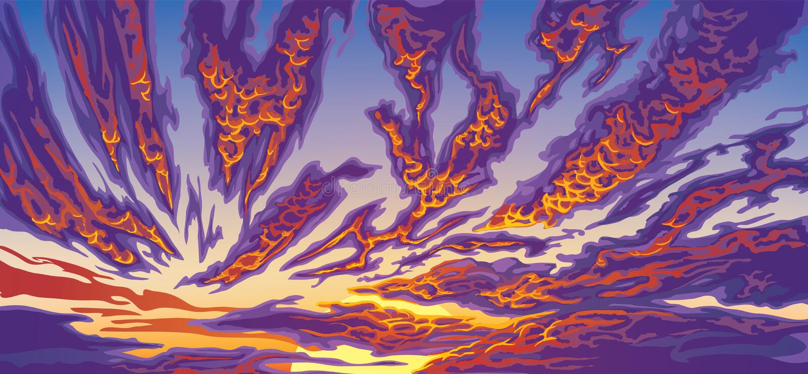 Background with clouds royalty free illustration