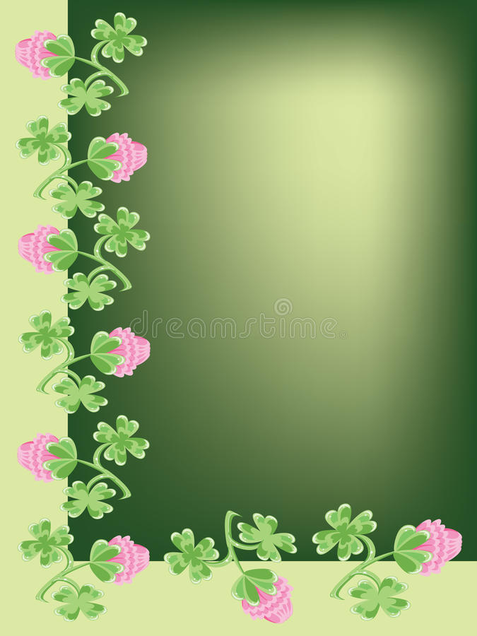 Background With Clover Royalty Free Stock Photos