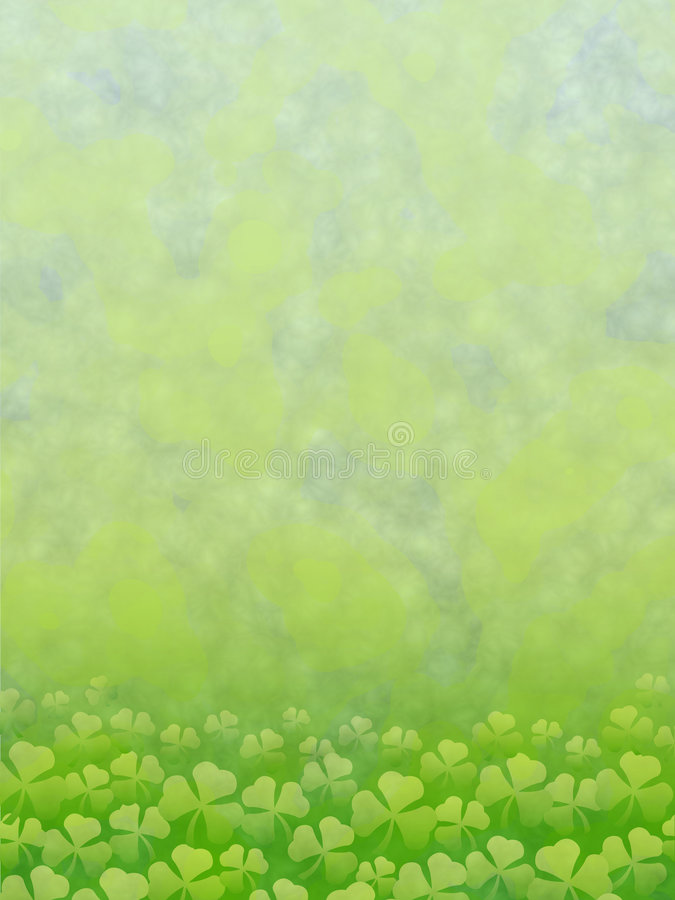 Background with clover stock illustration
