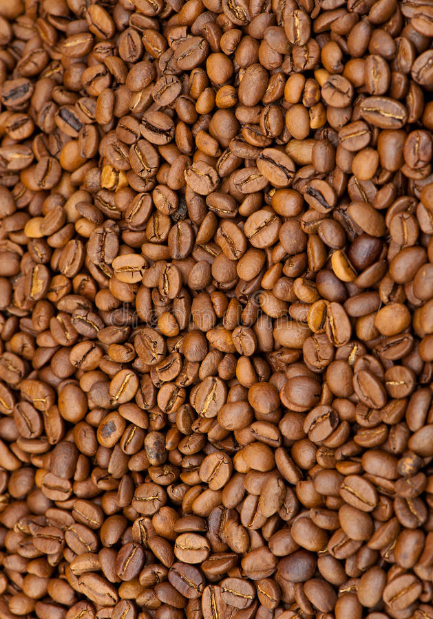 Background from coffee grains royalty free stock image