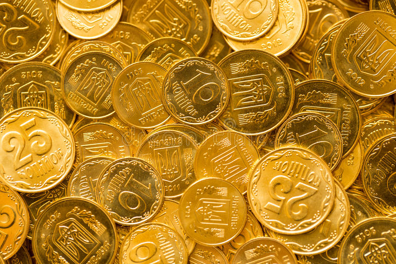 Background of the coins. Of Ukraine stock photos