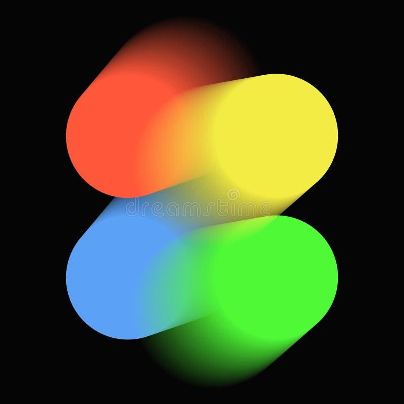 Background color blended circular elements