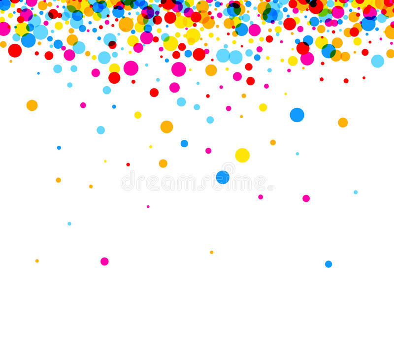 Background with color drops. White paper background with color drops. Vector illustration stock illustration