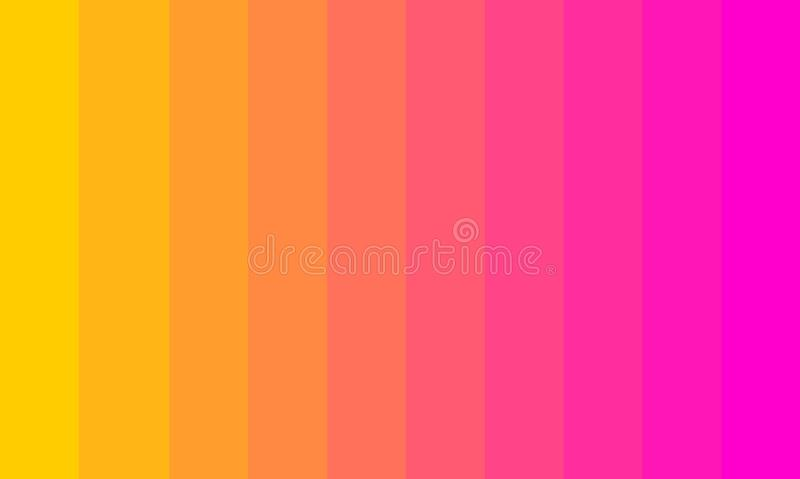 Background color palette yellow to pink royalty free illustration